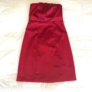Sexy Strapless Satin Dress